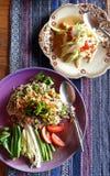 Thaise keukenschotels royalty-vrije stock foto's