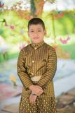 Thaise kind traditionele kleding stock foto