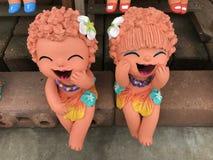 Thaise klei dolls3 Royalty-vrije Stock Foto