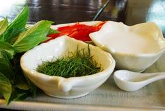 Thaise kokende ingrediënten Stock Foto
