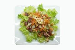 Thaise kruidige gemengde salade royalty-vrije stock afbeeldingen
