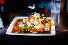 Thaise kruidige pijlinktvis Stock Afbeelding