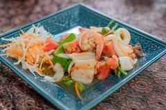 Thaise kruidige salade royalty-vrije stock afbeelding
