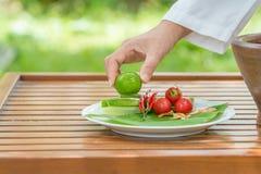 Thaise kruidige salade Stock Afbeeldingen