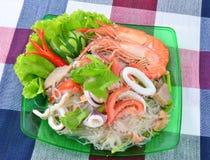 Thaise kruidige zeevruchten Royalty-vrije Stock Fotografie