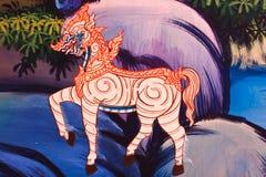 Thaise kunst en tekening een leeuw. Stock Fotografie