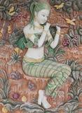 Thaise kunst op de muur Stock Afbeeldingen