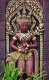 Thaise kunst op de muur Stock Foto's