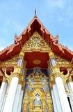 Thaise kunst op de tempelgeveltop Royalty-vrije Stock Fotografie
