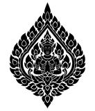 Thaise kunstenengel, patroon stock illustratie