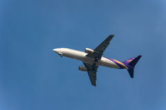 Thaise luchtroutesvliegtuigen Stock Fotografie