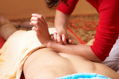 Thaise massage Stock Afbeelding