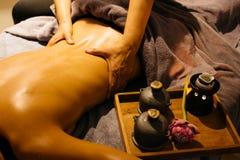 Thaise Massagereeks stock fotografie