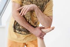 Thaise massagezitting Stock Foto