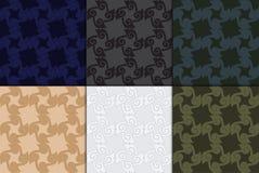 Thaise moderne geometrische naadloze patroon vectorsamenvatting backgroun Royalty-vrije Stock Fotografie