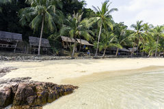 Thaise mooie strand en kust stock afbeelding