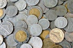 Thaise muntstukken Royalty-vrije Stock Afbeeldingen
