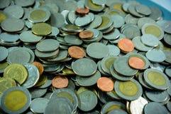 Thaise muntstukken Royalty-vrije Stock Foto's
