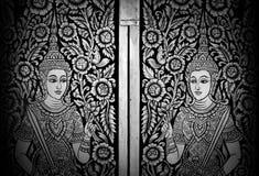 Thaise Muurschildering Royalty-vrije Stock Foto
