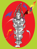 Thaise muurschilderingtempel Stock Afbeeldingen