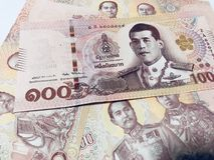 Thaise notabank stock foto's
