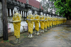 Thaise pagode in tempel Stock Afbeelding