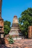Thaise pagode, Wat Yaichaimongkol-tempel, Oude overblijfselen in Ayut Royalty-vrije Stock Foto's