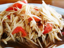 Thaise papajasalade som-TAM Royalty-vrije Stock Afbeeldingen