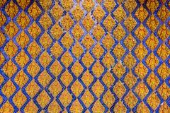 Thaise patroonmuur van Thaise tempel Royalty-vrije Stock Afbeelding