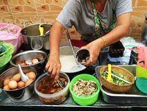 Thaise rijsthavermoutpap Royalty-vrije Stock Afbeelding