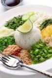 Thaise rijstsalade Royalty-vrije Stock Fotografie