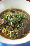 Thaise rundvleesnoedel Stock Foto