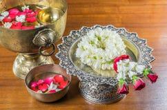 Thaise slingerbloemen stock afbeeldingen