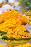 Thaise snoepjes bij een Boeddhistische ceremonie Stock Afbeeldingen