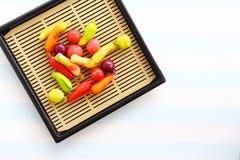Thaise snoepjes in de kom Royalty-vrije Stock Afbeelding