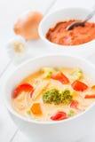 Thaise soep Tom Kha Gai Royalty-vrije Stock Foto's