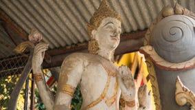 Thaise standbeelden van deities close-up stock foto