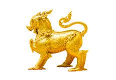 Thaise stijl gouden leeuw royalty-vrije stock afbeelding