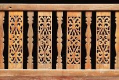 Thaise stijl houten ambacht Stock Foto