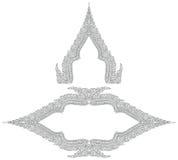 Thaise stijl rijke gesierde kaders royalty-vrije illustratie
