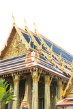 Thaise stijlarchitectuur met blauw dak Stock Afbeeldingen