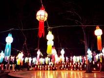 Thaise stijllamp Stock Foto's