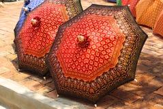 Thaise stijlparaplu Royalty-vrije Stock Foto