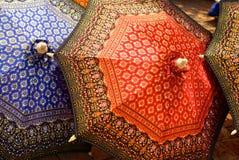 Thaise stijlparaplu Stock Afbeeldingen