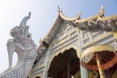 Thaise stijltempel in noordelijk Thailand Stock Foto