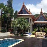 Thaise stijlvilla Royalty-vrije Stock Foto's