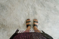 Thaise stof Stock Foto
