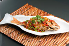 Thaise Tamarinde Rode Snapper Stock Afbeelding