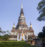 Thaise tempel in Ayutaya Stock Afbeelding