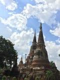 Thaise Tempel bij ayutthaya Stock Afbeeldingen